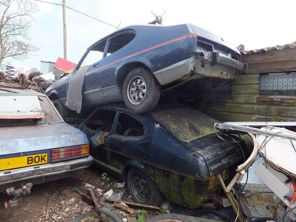 A Pair Of 2 8 Injection Capris And A Granada Abandoned Cars