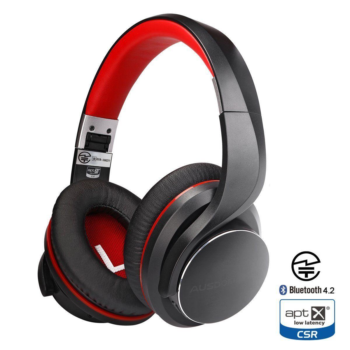 Wireless Bluetooth Headphones, AUSDOM Bluetooth 4.2 Over-Ear ...