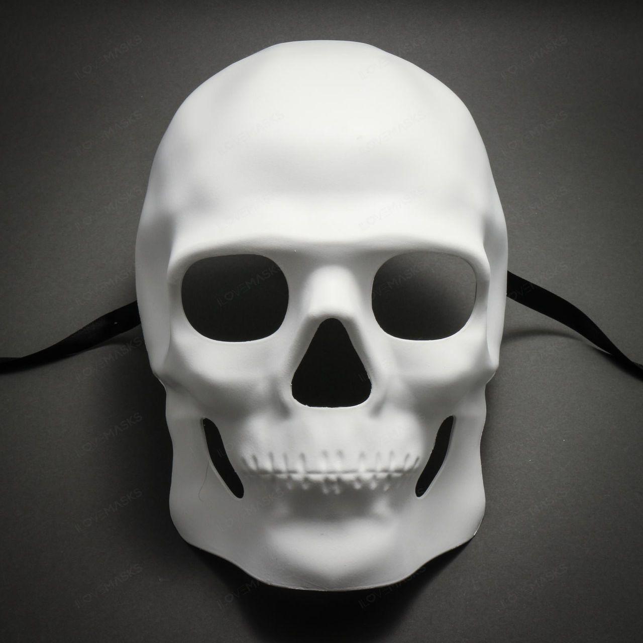 Halloween 2020 Mask White Skull Halloween Masquerade Full Face Mask   White in 2020 | Full