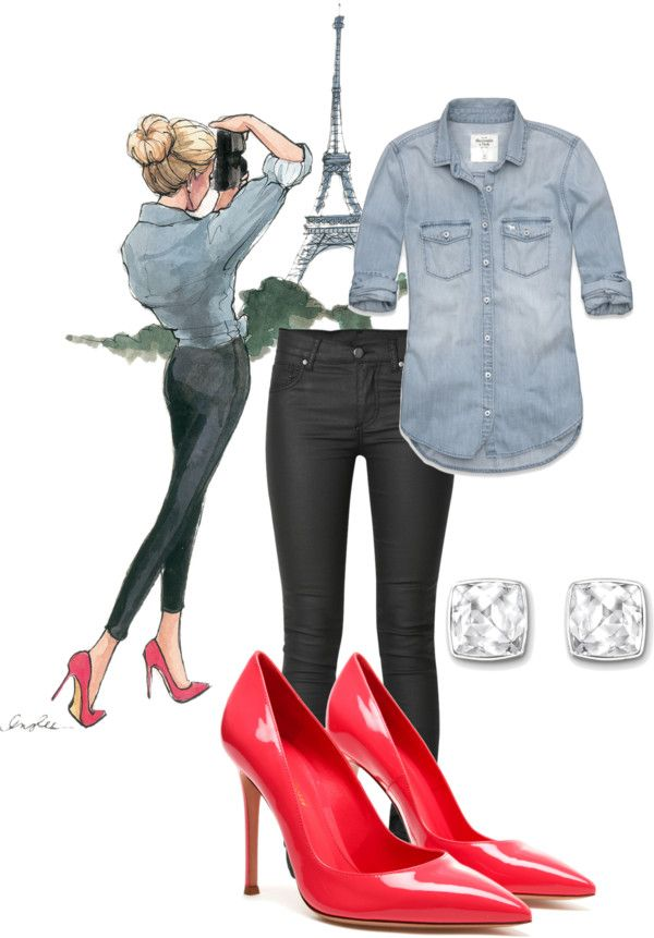 6bfb5980929 Love this outfit  denim shirt