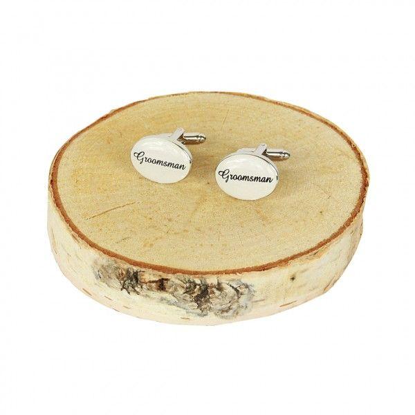 Manchetknopen Groomsmen. Deze mooie manchetknopen zijn een mooi cadeau voor elke groomsman! €7,50