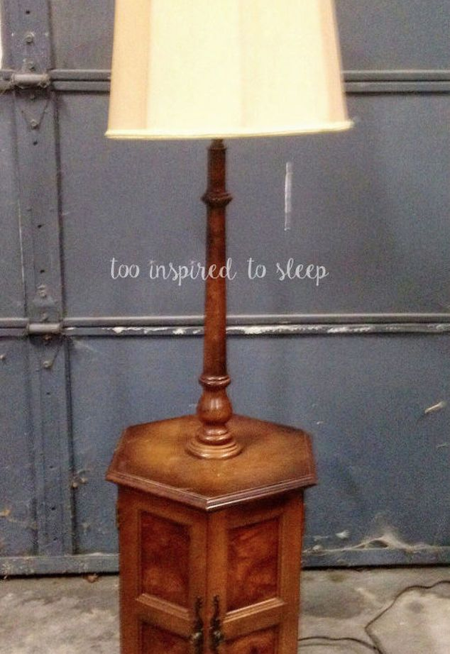 Revival Of A 80 S Floor Lamp End Table Floor Lamp Makeover