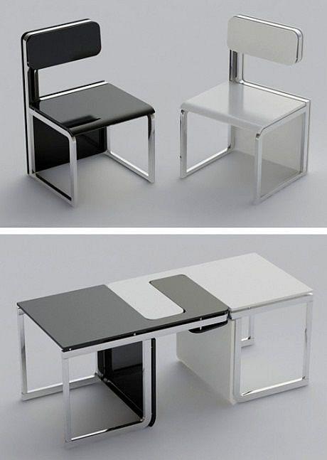Chairs Turn Into A Table Cool Idea Furniture Creative Furniture Unique Furniture
