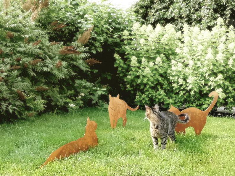 Katze Gizmo Garten Dekoration Katze Silhouette Aus Stahl Etsy Animals Silhouette Fox
