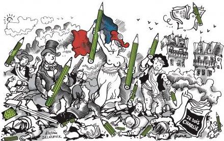 Le dessin du jour de Plantu dans @lemondefr #jesuischarlie