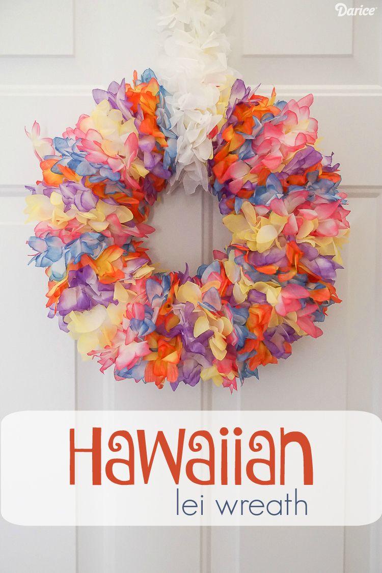 Diy lei wreath with hawaiian flower lei darice flower lei diy lei wreath with hawaiian flower lei darice izmirmasajfo Gallery