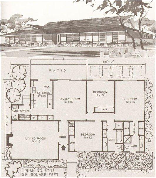 Sohranyonnye Fotografii 142 Fotografii Mid Century Modern House Modern House Plans Modern House Floor Plans