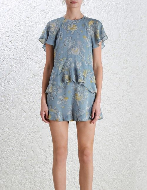 04b1d8d8a41 Zimmermann Adorn Floating Playsuit. Model Image. Our model is 5 10 5 and is  wearing a size 0