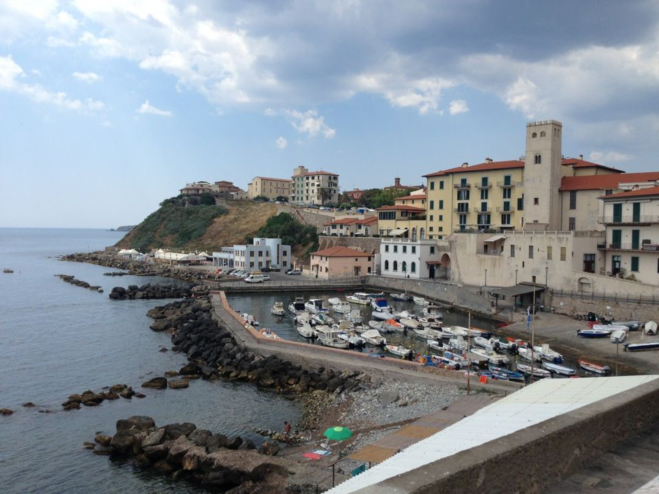 Piombino in Livorno, Toscana. The Amalpi drive where I thought we were going to be buried!  Yikes...ride a bus or drive a really small car.