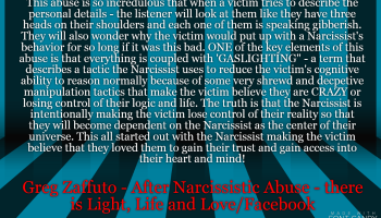 From MY Book: From Charm to Harm and Everything else in Between with a Narcissist.