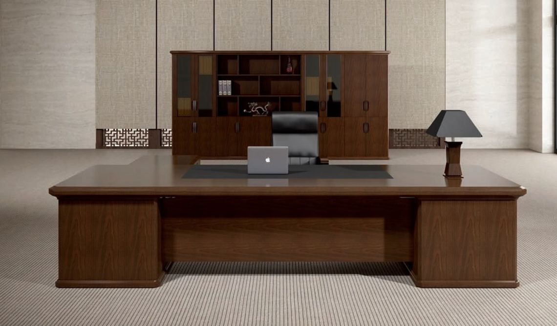 Clical Design Aesthetics Rich Natural Wood Veneer Fine Craftsmanship Are The Hallmarks Of Royale Office Table For Large Cabins