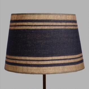 Cute Blue And Tan Striped Lamp Shade