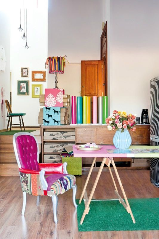 Colorful Pretty Seating In Living Room