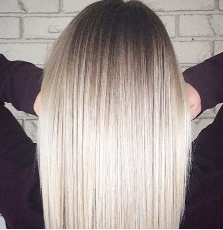 Platinum Ombre Ombre Hair Blonde Ice Blonde Hair Balayage Hair