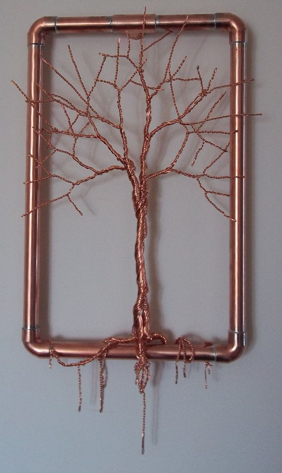 Copper Wire Tree Sculptur Hanging Wall Art by TwistedSouls on Etsy ...