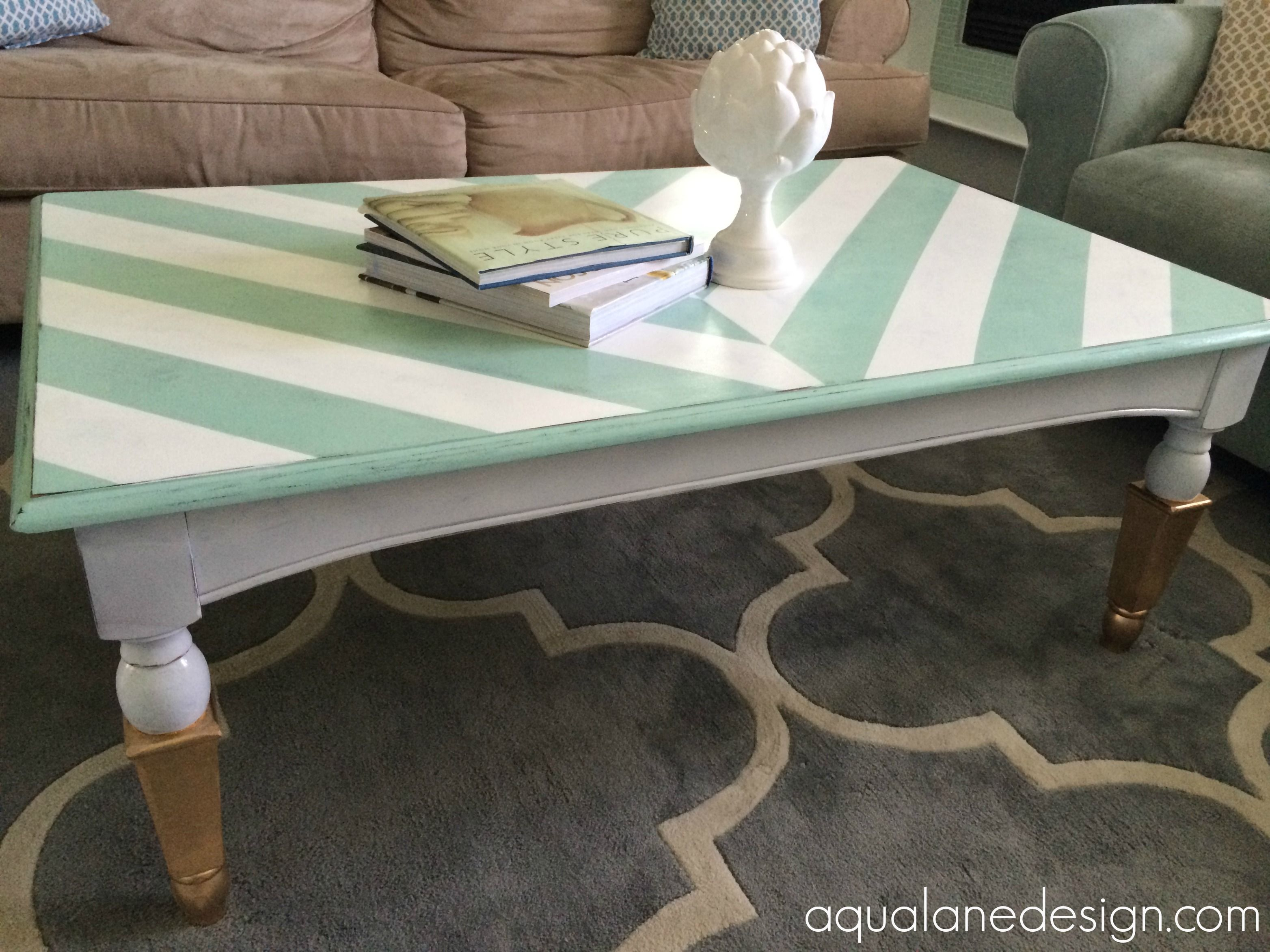 herringbone table furniture paint Pinterest