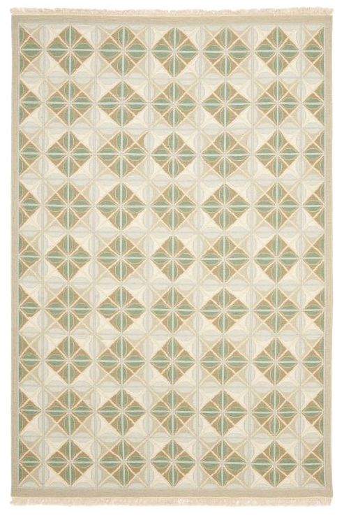 Inv #150347 Soumak Teal/Beige 4'x6' other sizes available