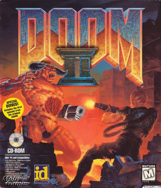 8d21c69e DOOM II | Video game box cover art, et al. | Doom game, Doom 2, Games