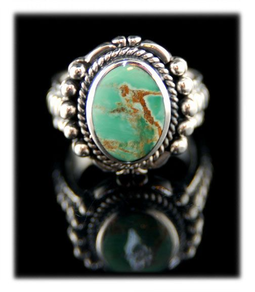 Sterling Silver Cerrillos Turquoise Ring SKU by GemSilverJewelry, $250.00