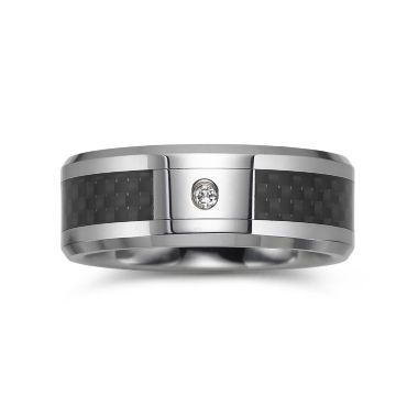 mens diamond accent two tone wedding band found at jcpenney - Jcpenney Mens Wedding Rings
