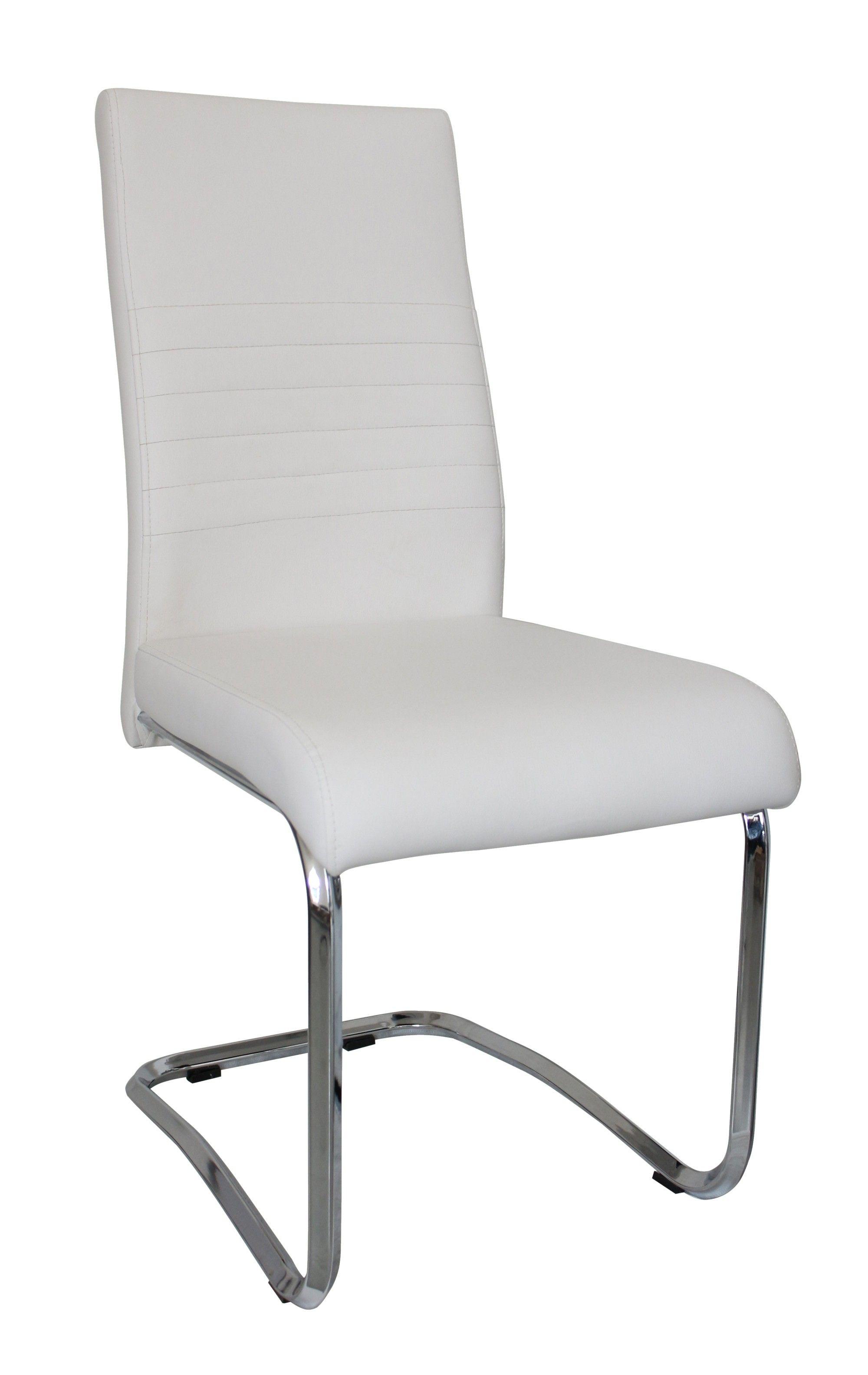 Tonnant Chaise De Salon Blanche