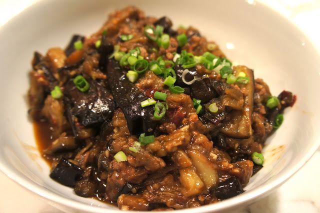 Spicy Szechuan Pork and Aubergine | Eggplant with minced pork recipe. Food. Asian recipes