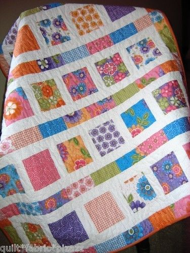 """""""Flowers in The Sunshine"""" Very Easy Peasy Quilt 2 Charm Pack Pattern 