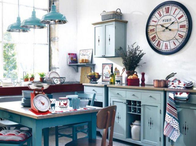 Cuisine bleu vintage pour ma cuisine Pinterest Decoration and