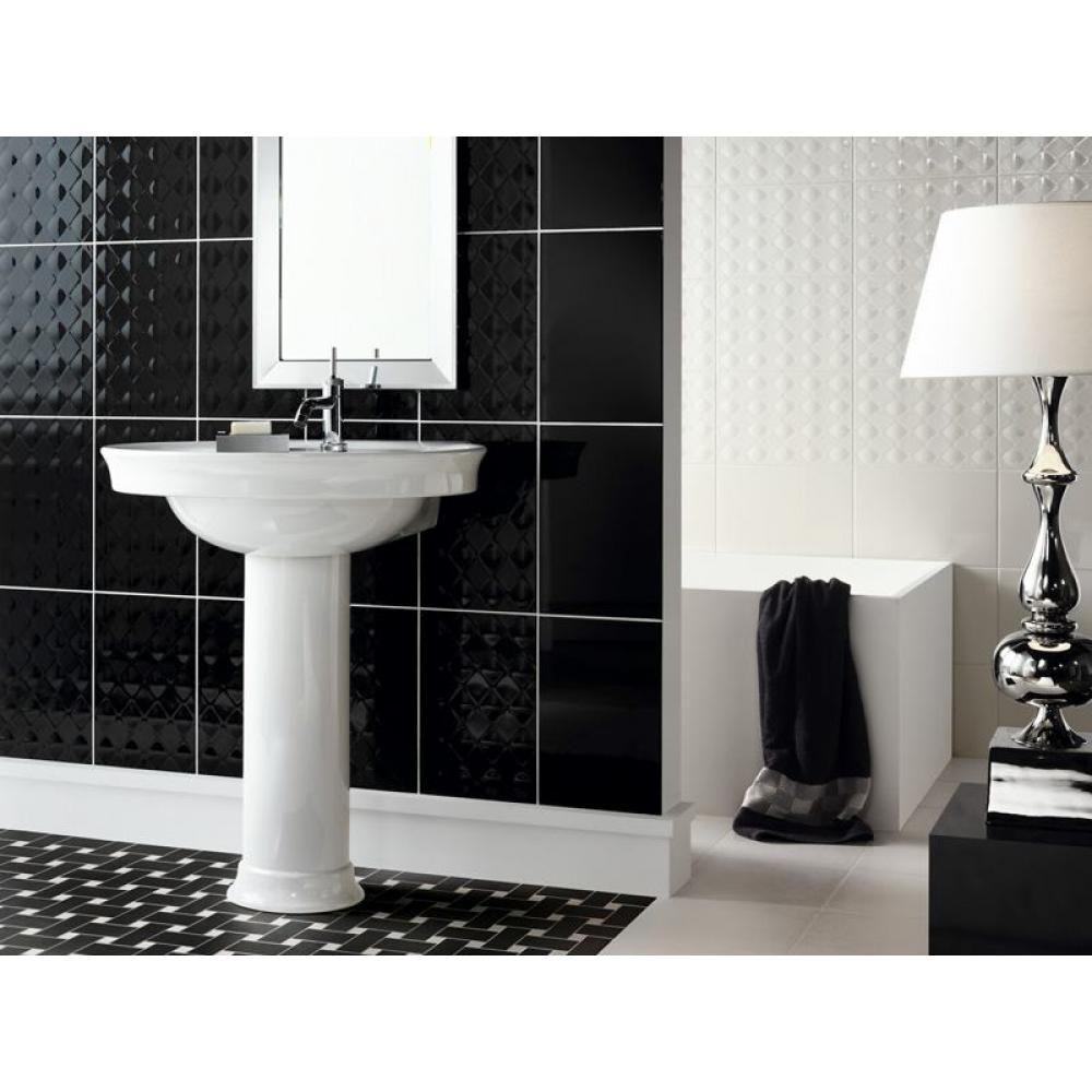 Novabell Black And White York Fekete Feher Csempe Design Burkolat - Black-and-white-bathroom-york-by-novabell