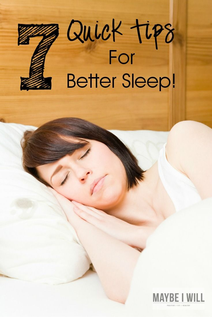7 Quick Tips For Better Sleep - How to fall asleep faster ...