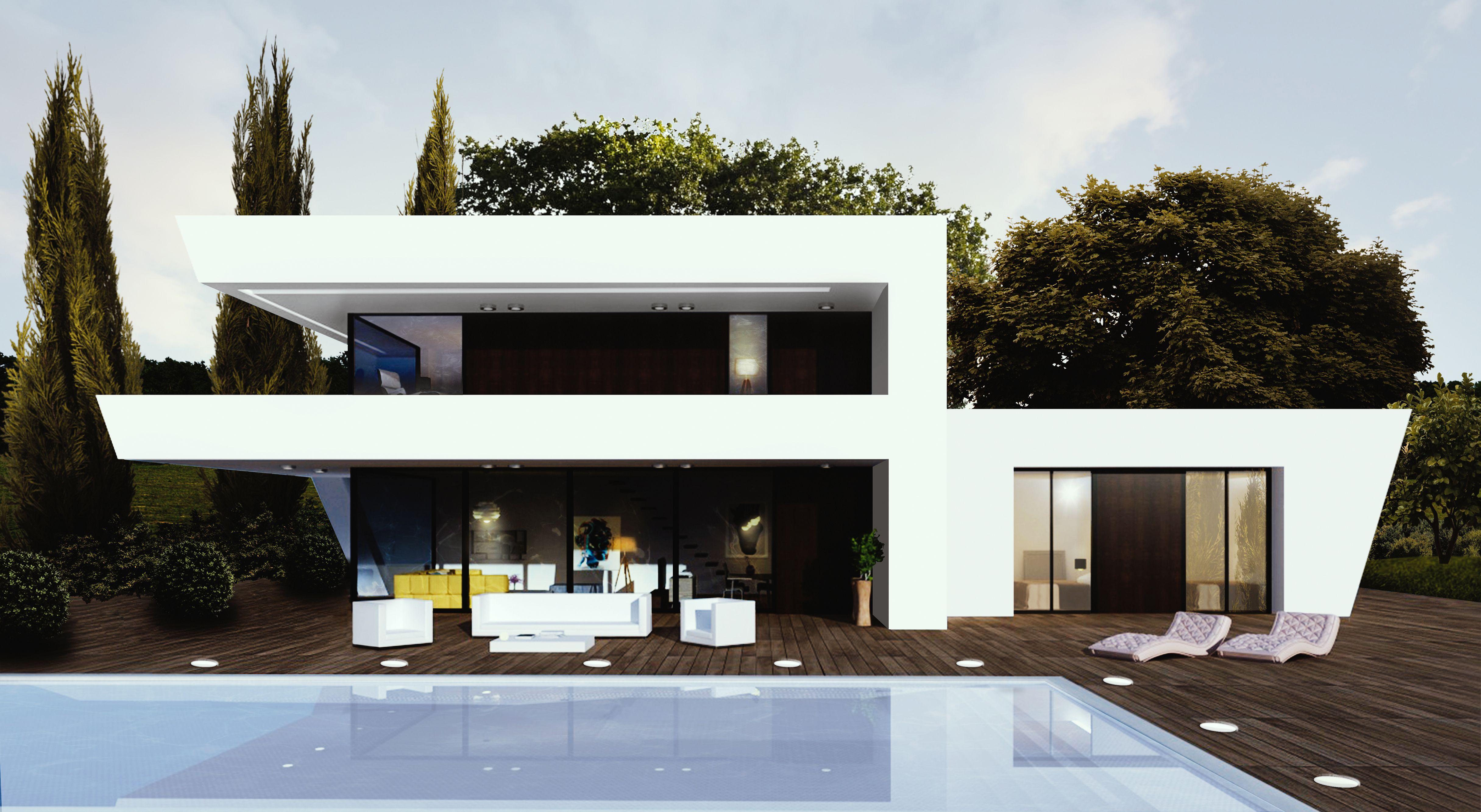 Construcción de obra nueva para vivienda unifamiliar con módulos muy ...