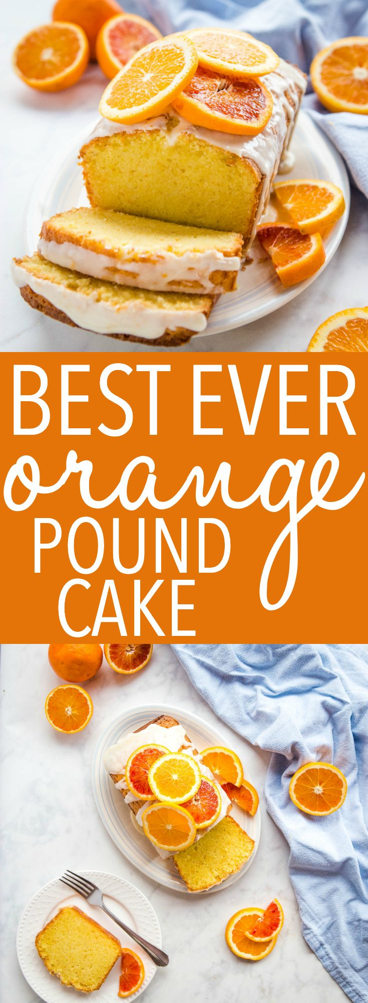 Best Ever Orange Pound Cake with Citrus Glaze - The Busy Baker