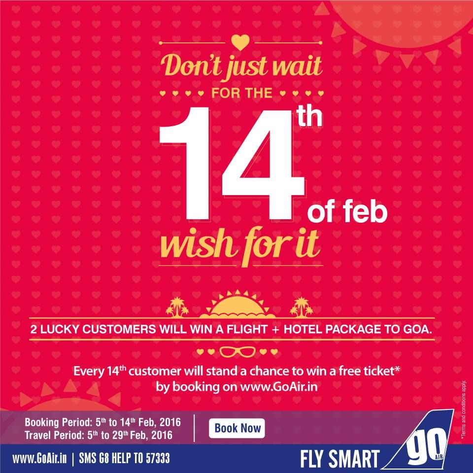 Every 14th customer will stand a chance to win a free