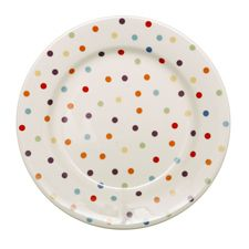 Polka dot plates. Bet you could make your own with cheap plastic plates and an eraser dipped in paint.  sc 1 st  Pinterest & Polka dot plates. Bet you could make your own with cheap plastic ...