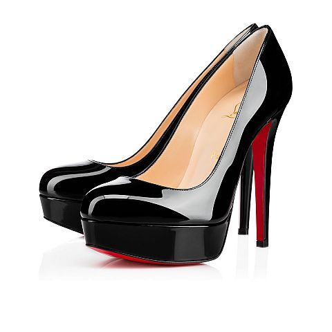 competitive price 4c2a5 e4474 BIANCA 140 Black Patent Calfskin - Women Shoes - Christian ...