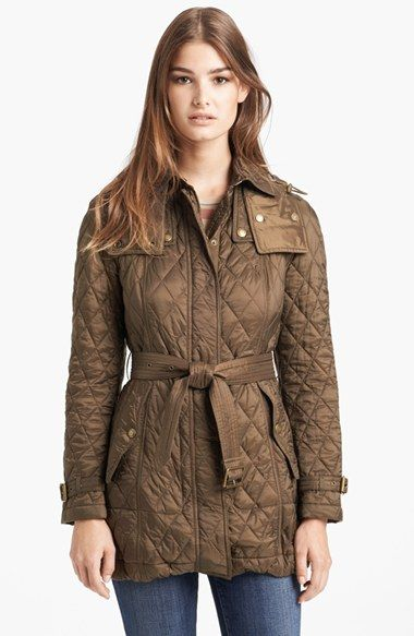 Burberry Brit 'Finsbridge' Belted Quilted Jacket available at ... : nordstrom burberry quilted jacket - Adamdwight.com