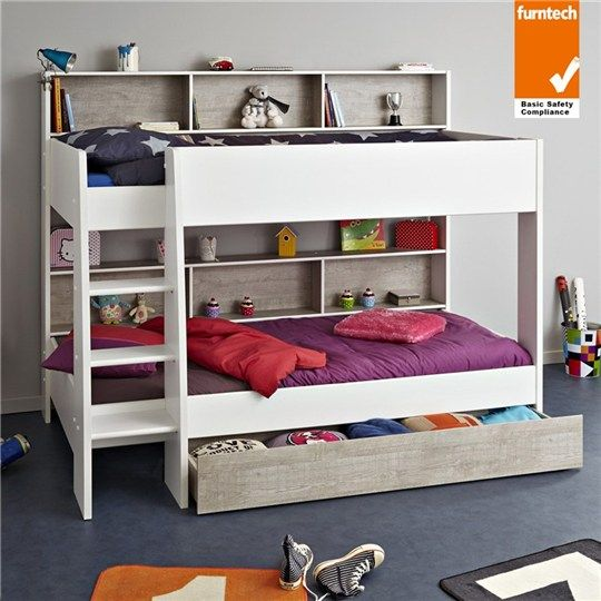 Parisot Taylor French Made Single Bunk Bed With Storage