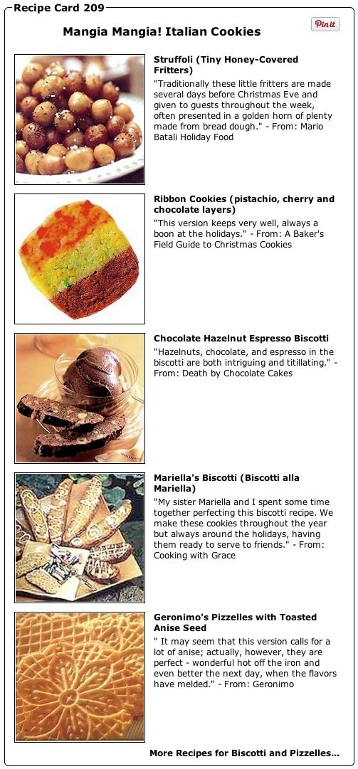 Recipe Collection: Mangia! Mangia! Italian Cookies - Recipelink.com