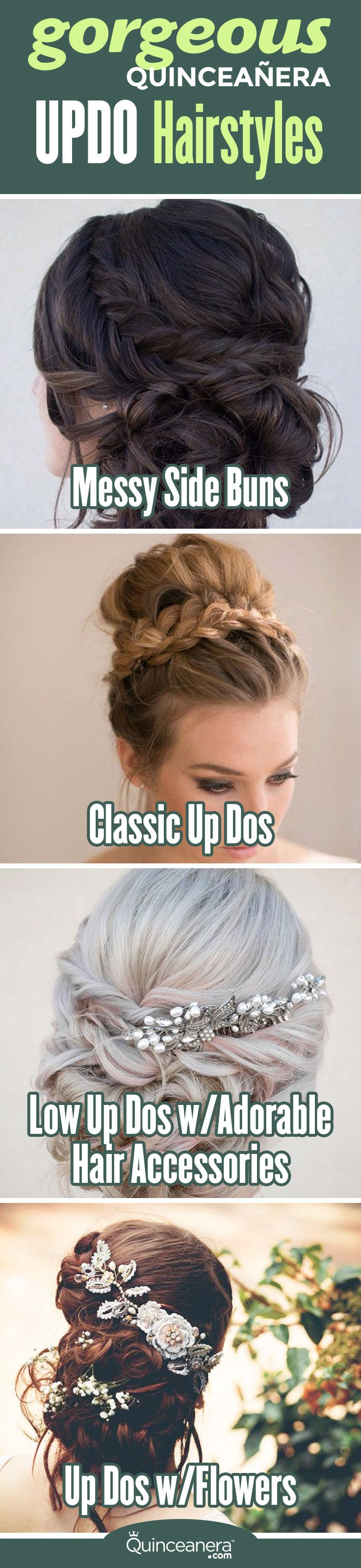 Dropdead gorgeous quinceanera updo hairstyles quinceanera