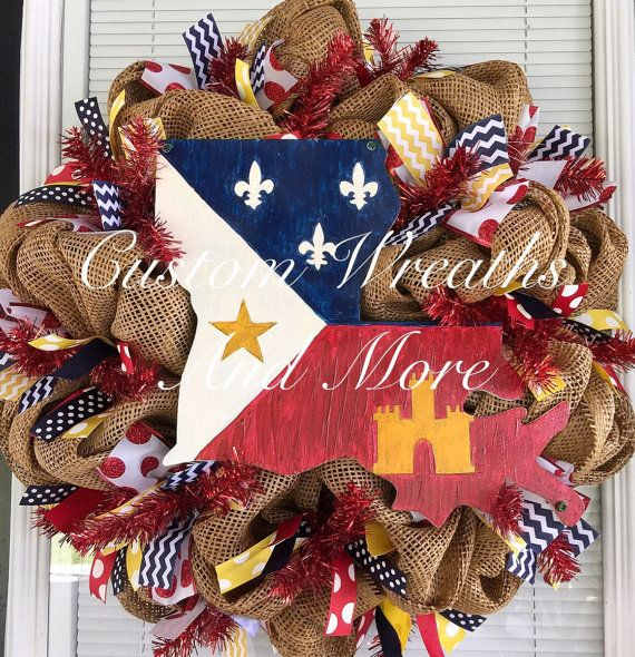 lafayette strong hand painted louisiana by customwreathsandmore