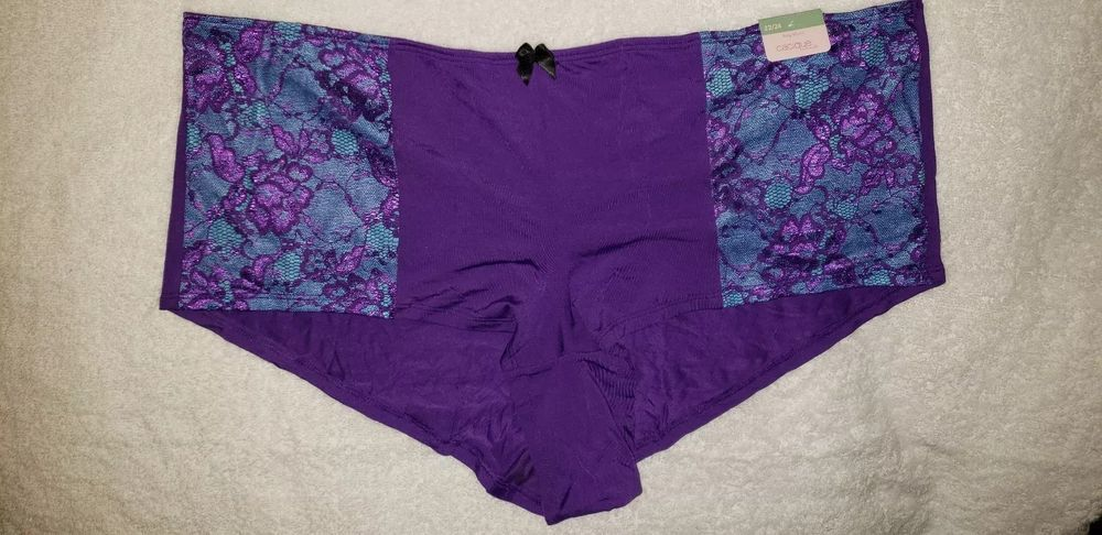 2b22a7b79 NWT Cacique Lane Bryant Purple and Blue Boy Short Panties 22 24  fashion   clothing  shoes  accessories  womensclothing  intimatessleep (ebay link)