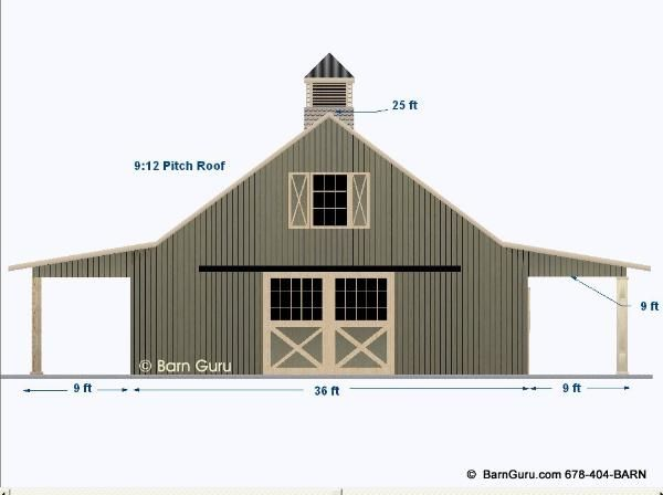 2 stall horse barn plan with loft barn builder in north for Horse pole barn plans