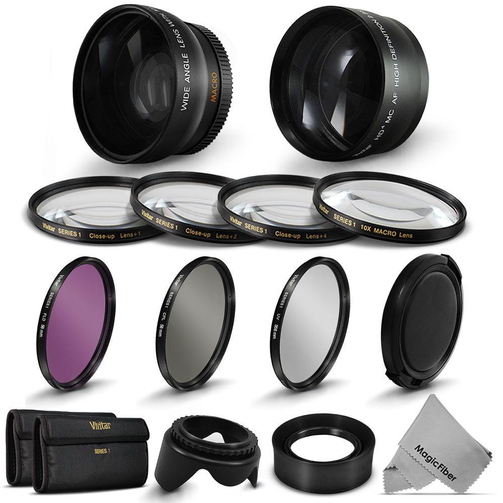 Details about 58MM Lens Set & Filter Kit for Canon EOS 1200D