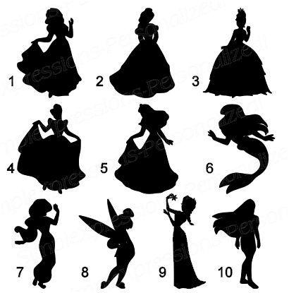 Pin By Erin Cartwright On Disney Disney Princess Silhouette Disney Silhouettes Princess Silhouette
