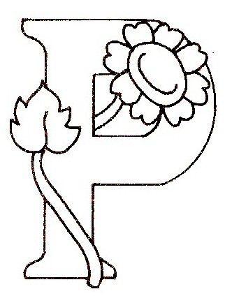Coloriage Lettre Printemps.Alphabet Fleur Paquerette Coloriage Fleur Alphabet Et