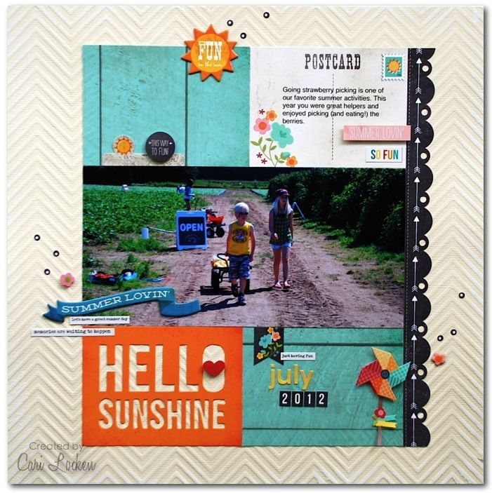 Layout created by design team member Cari Locken using our I Heart Summer collection