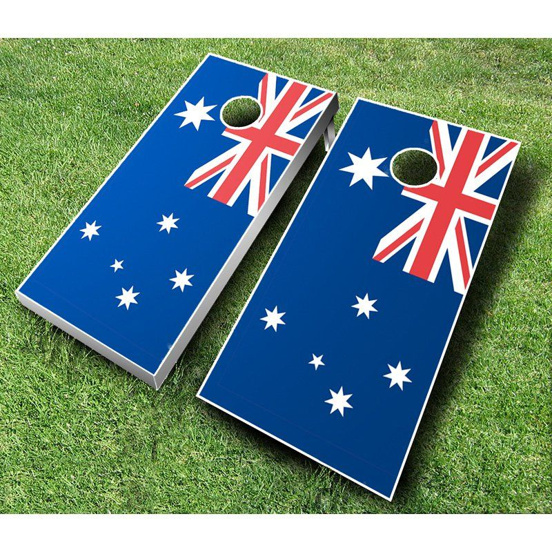 Australian Flag Cornhole Set with Bags Royal Blue / Yellow Bags - AUSTRALIAN FLAG ROYAL/YELLOW