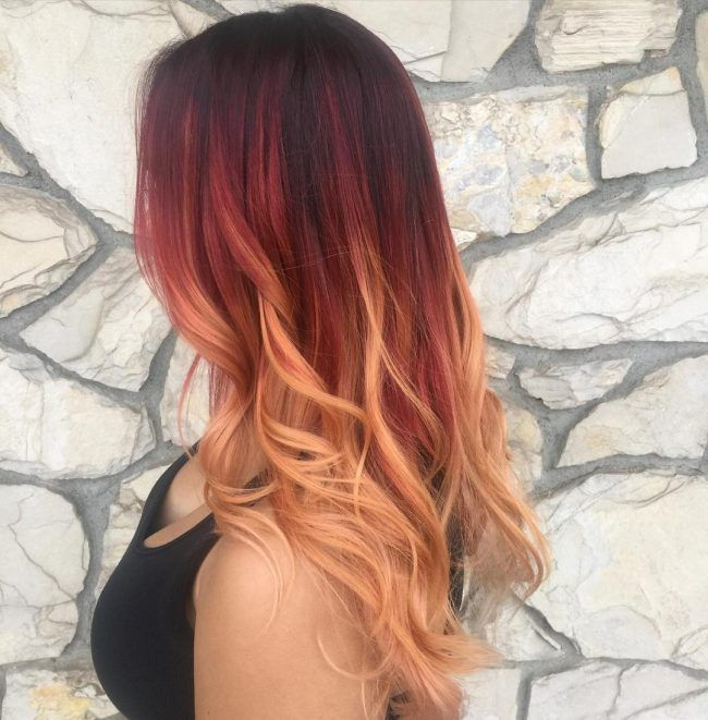 Ombre Hairstyles Red Hair