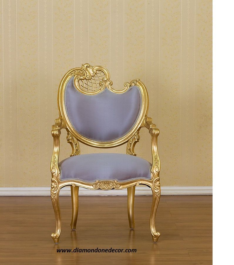 Louis Xvi French Reproduction Fireside Gold Gilt Gull Chair Available In Other Fabric Colors And Finishes Please Specify Right Or Left Allow