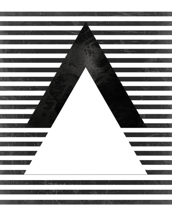 Black and White Art, Geometric Print, Geometric Art, Art Print,  Scandinavian Art, Giclee print, Tri